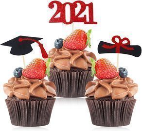 48pc Graduation Cupcake Toppers