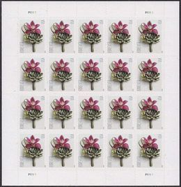 Flower Stamps Sheet of 100