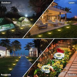 Solar LED Ground Lights Outdoor - 8 Pack