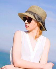 Beach Bucket Straw Sun Hat