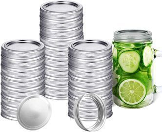 24 PCS Canning Jar Lids and Rings