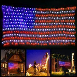 LED America Flag Lights for Fourth of July