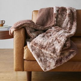 Prime Exclusive: Amazon Basics King Fuzzy Faux Fur Sherpa Blanket
