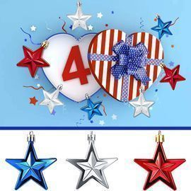 4th of July Star Ornaments Pendant