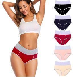 High Waisted Cotton Underwear