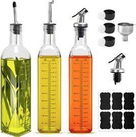 17oz Glass Olive Oil Bottles x 3