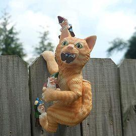 Funny Cat Garden Statue Decor