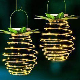 LED Pineapple Solar Lights