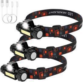 3 Packs Rechargeable Headlamp Flashlight