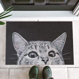 Cat Front Door Mat