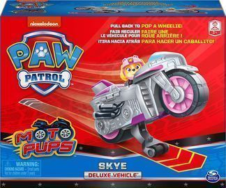 Paw Patrol, Moto Pups Skyes Deluxe Pull Back Motorcycle Vehicle