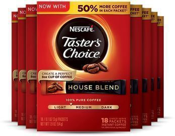 Nescafe Taster's Choice Instant Coffee 18-Count 8-Pack