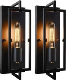 Set of 2 Industrial Wall Sconces