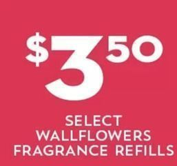Bath and Body Works - Select Wallflowers Fragrance Refills for $3.50