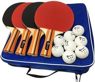 JP WinLook Ping Pong Paddle 4 Player Pack