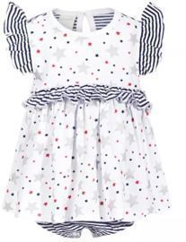 First Impressions Baby Girls Stripes & Stars Cotton Sunsuit