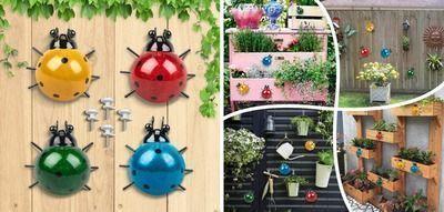 4PCS Metal Insect Wall Decor