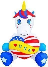 4' Patriotic Independence Day Inflatable Unicorn
