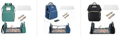 3 In 1 Travel Foldable Bassinet, Portable Diaper Changing Station & Mommy Bag Backpack