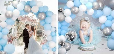 Blue Balloons Grand Arch Kit - 139 Pieces