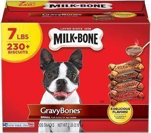 Milk-Bone Dog Biscuits w/ 12 Vitamins & Minerals (Gravy-Bones,  7lb.)
