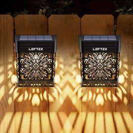 LOFTEK Solar Deck Lights (Warm White, 2 Pack)
