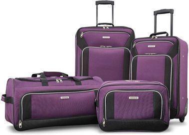 4pc American Tourister Fieldbrook XLT Softside Upright Luggage Set