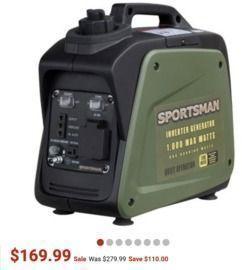 New! Sportsman  1000W Inverter Portable Gasoline Generator