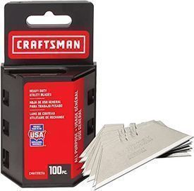 CRAFTSMAN Utility Knife Blades (100 Pack, CMHT11921A)