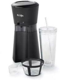 Mr. Coffee Iced Coffee Maker w/ Reusable Tumbler & Coffee Filter