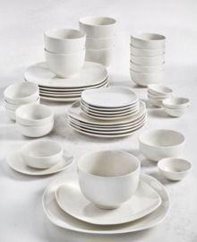 Tabletops Unlimited Whiteware 42-PC. Dinnerware Set