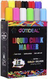 GOTIDEAL Liquid Chalk Markers, 12 Colors