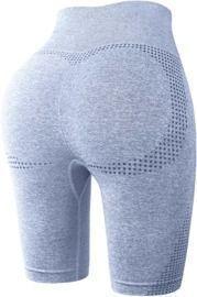 Fulbelle Women's High Waisted Seamless Butt Lifting Biker Workout Yoga Shorts