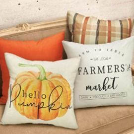 18 x 18 Fall Pillow Covers - Set of 4