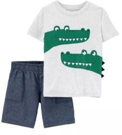 Carter's Baby Boys Alligator Tee and Short Set