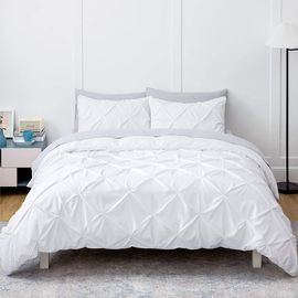 Pinch Pleated Queen Size Duvet Cover Set