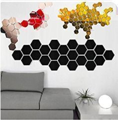 16 Pieces Removable Acrylic Mirror Wall Stickers