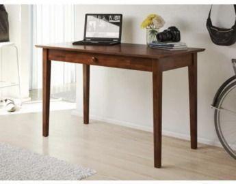 48 Rectangular Walnut 1 Drawer Writing Desk