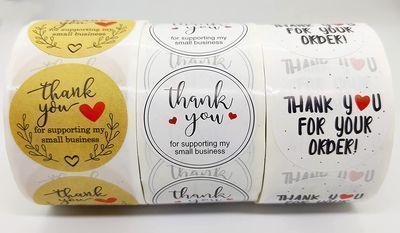 Thank You Stickers Labels