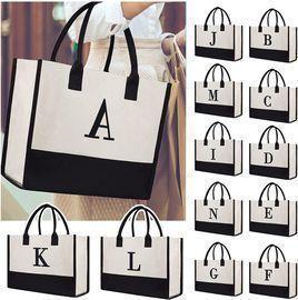 Monogram Print Tote Bags