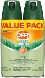 OFF! Deep Woods Bug Spray & Mosquito Repellent, DryTouch Technology - Pack of 2