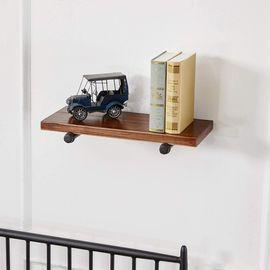 YCCO 8 Industrial Black Iron Pipe Shelf (Set of 4)