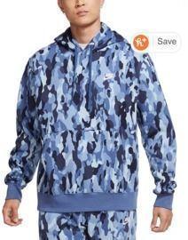 Nike Men's Sportswear Club Fleece Camo Hoodie
