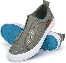 JENN ARDOR Women's Canvas Slip On Sneakers