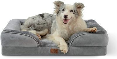 Bedsure Large Orthopedic Foam Dog Sofa