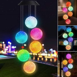Color Changing Solar Power Wind Chime