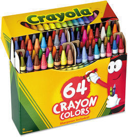 Crayola 64 Count Crayons Box with Built-In Sharpener