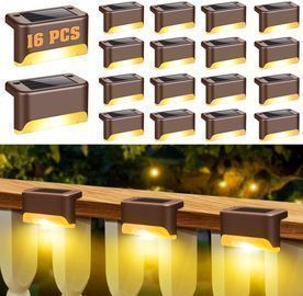 6 Pack Solar Deck Lights