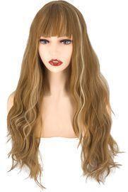 Long Brown Wavy Wig