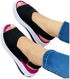 Womens Comfy Sports Knits Sandals